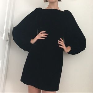 Jill Stuart black velvet dress 0 witchy holiday
